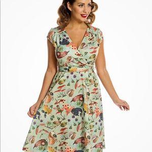 'Dawn' Woodland Fairy Print Swing Dress